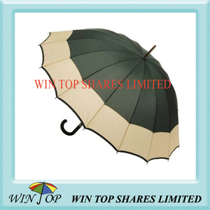 2 Colors Manual Wooden Umbrella