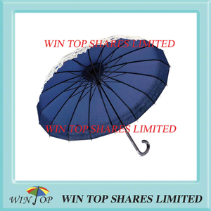 Beige lace vogue blue pagoda umbrella