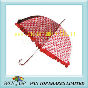 "23"" Ladies Straight Lace Umbrella (WT1217)"