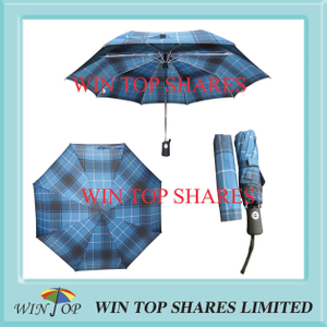 Full auto check style Aldi super market umbrella