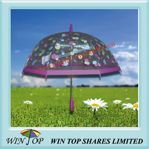 "23"" Auto Straight Poe Umbrella with DOT Logo"