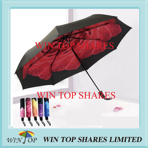 Retractable compact UV proof rose Umbrella