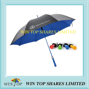 Blue fiberglass frame advertising Benz Golf Umbrella