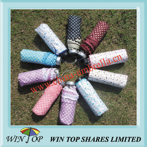 "19.5"" Aluminum Polyester Folding Umbrella"