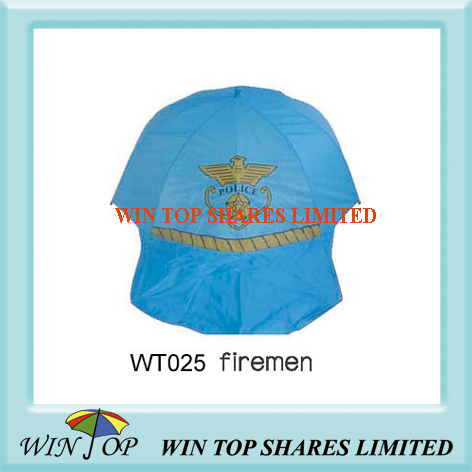 Firemen Topic Silk Screen Printing Blue Umbrella (WT025)