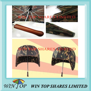 Camouflage Safe and Windproof Helmet Umbrella