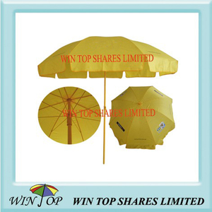 All Yellow Beach Umbrella with Logo (WT7024)