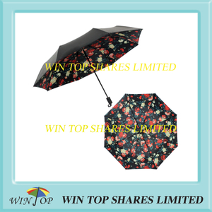 Hot sale UV proof black adhesive flower umbrella distributor