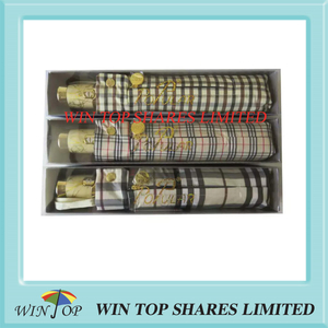 Popular brand peerless quality burberry gift umbrella