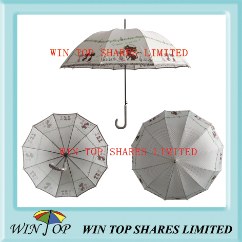 "23"" Auto Straight Grey Vogue Umbrella (WT5091)"