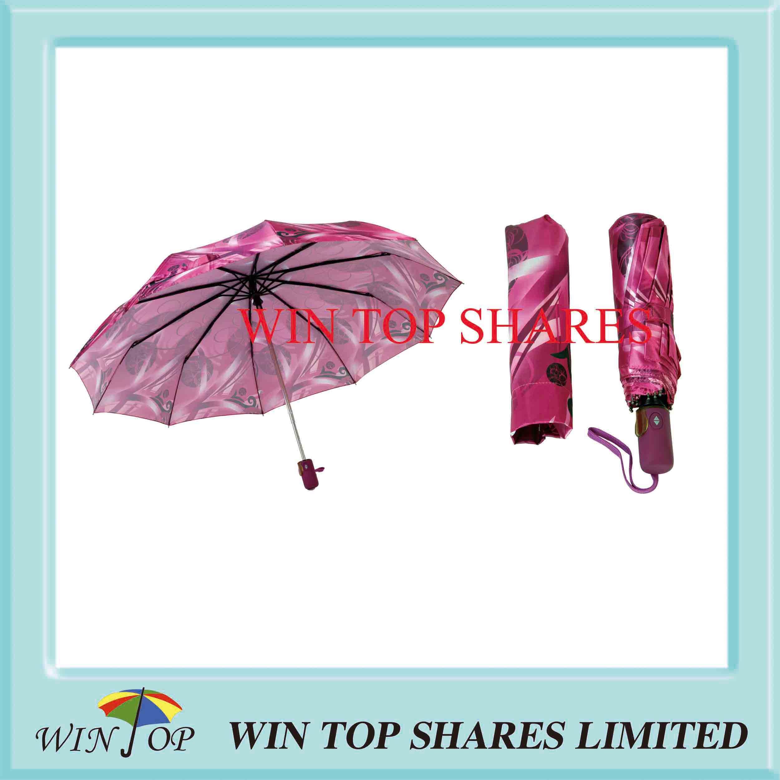 Super Fine Satin Full Automatic Safe Umbrella