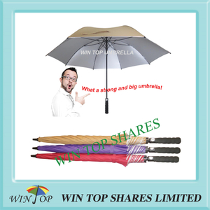 Anti UV UPF 50+ auto strong big beige Golf Umbrella