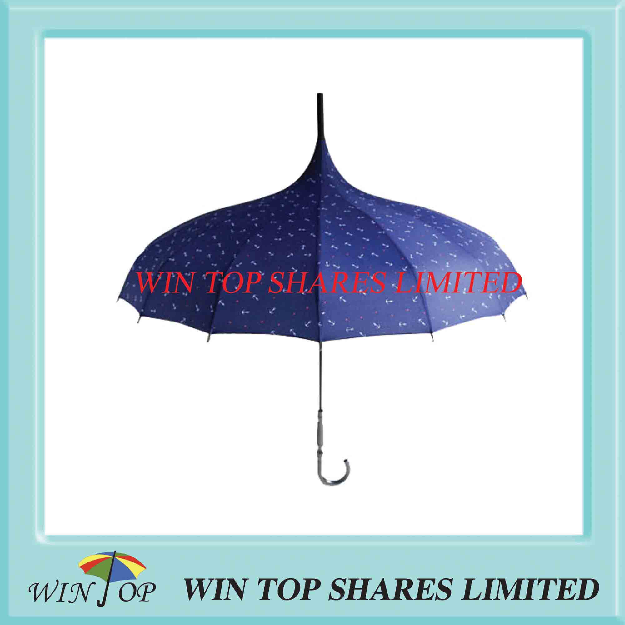 Pongee printed prevalent pagoda umbrella