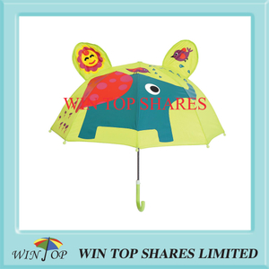 New design little elephant and bird Child Parasol