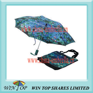 3 Fold Oil Painting Shopping Bag Umbrella
