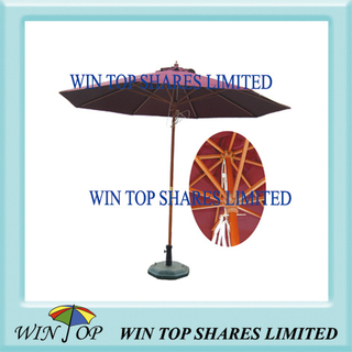 2.7m Wooden Pole Outdoor Patio Umbrella (WTS1001)