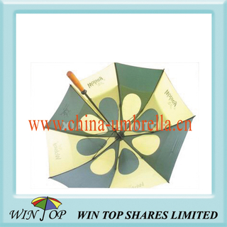 "30"" Green and Yellow Windproof Golf Umbrella (WT6067)"