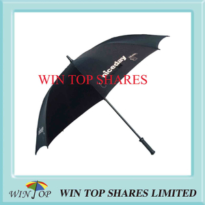 Nice Day Black Strong Fiberglass Golf Umbrella