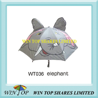 Grey Elephant Model Imprinted Children Umbrella