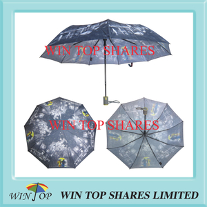 French lover and landscape oil painting craft rain Umbrella