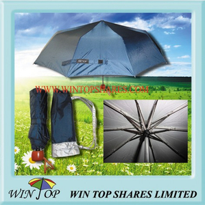 "21"" Anti UV 3 Folding Rain Umbrella"