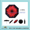 Telescopic UV resistant red daisy air Umbrella