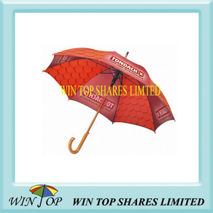 Custom Made Auto Straight China Wooden Umbrella