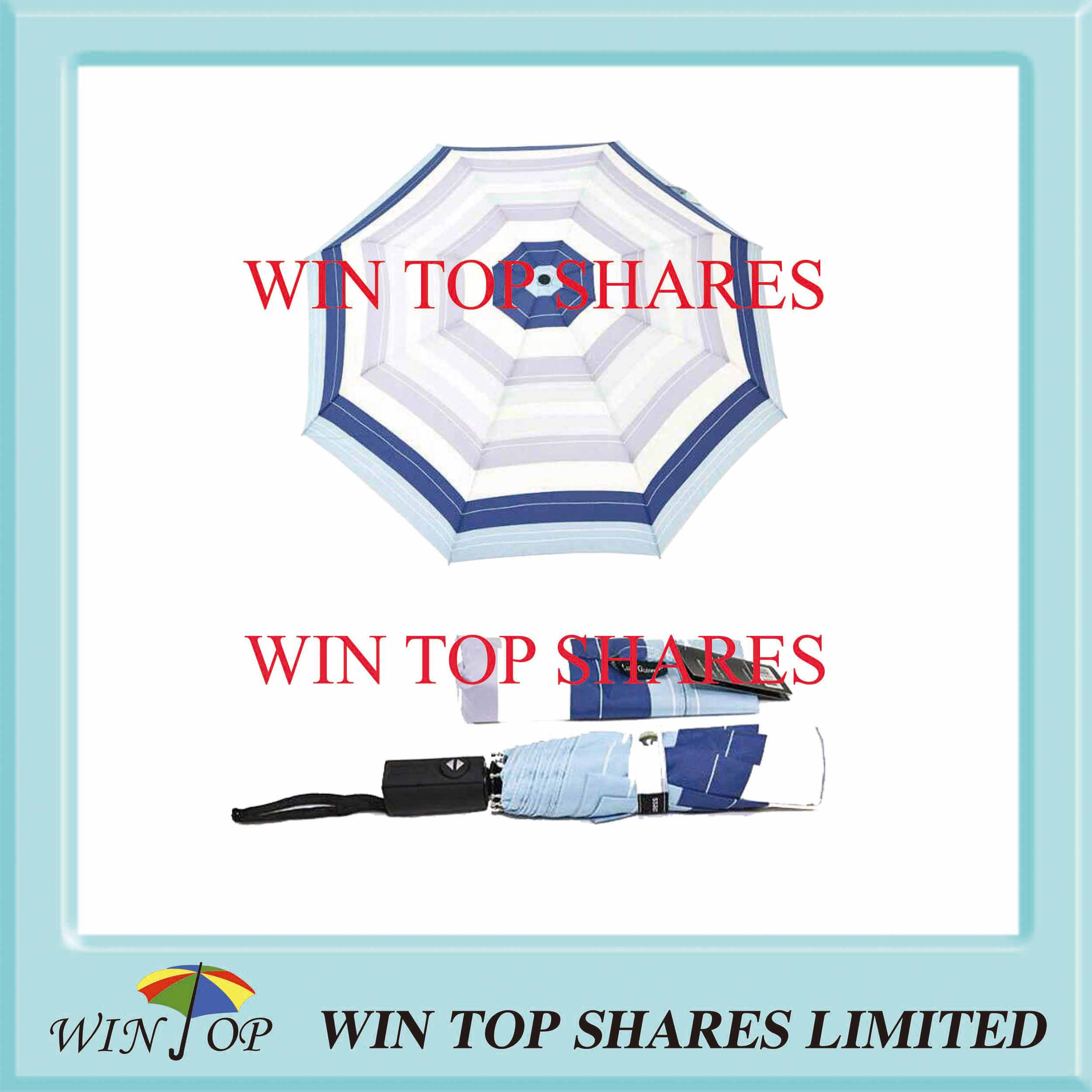 Reliable Blue Stripe Auto Open Close Umbrella Supplier