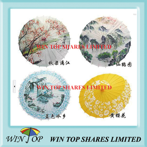 China landscape painting paper art parasol