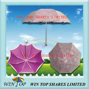 Korea Style Ladies Crystal Handle Rain Shade Umbrella (WT2122)