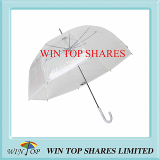 Adult Clear Dome Shape Auto Poe Umbrella