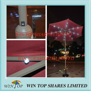 2.7m Garden LED Market Umbrella for Outdoor Use
