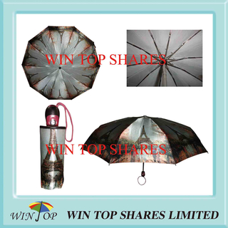 4 Folds Super Fine Satin Auto Open Close Umbrella