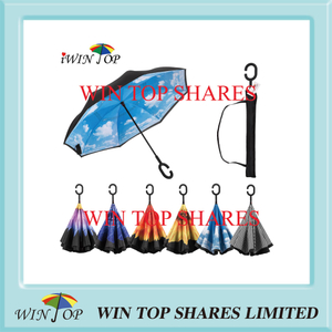 Blue Sky Upside Down windproof waterproof reversed Umbrella