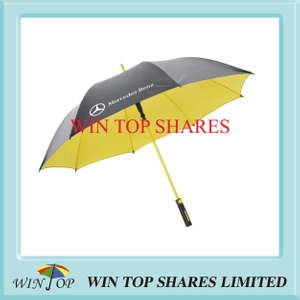 Yellow fiberglass frame ad Mercedes Benz Golf Umbrella