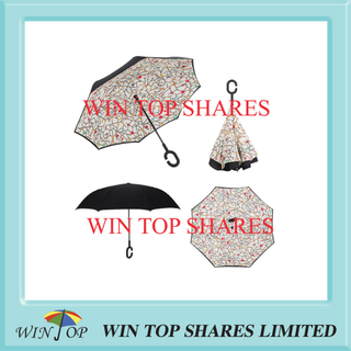 Ceramic tile pattern innovative invertible vehicle umbrella