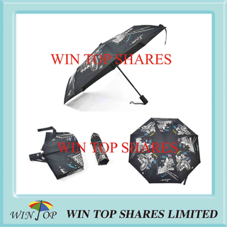 Silk Screen Printing Imprint Automatic Umbrella