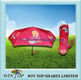Girl Umbrella with Heart Shape Handle (WT3088)