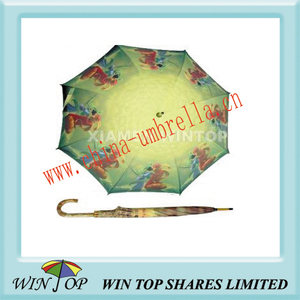 "23"" Manual Wooden Heat Transfer Craft Umbrella"