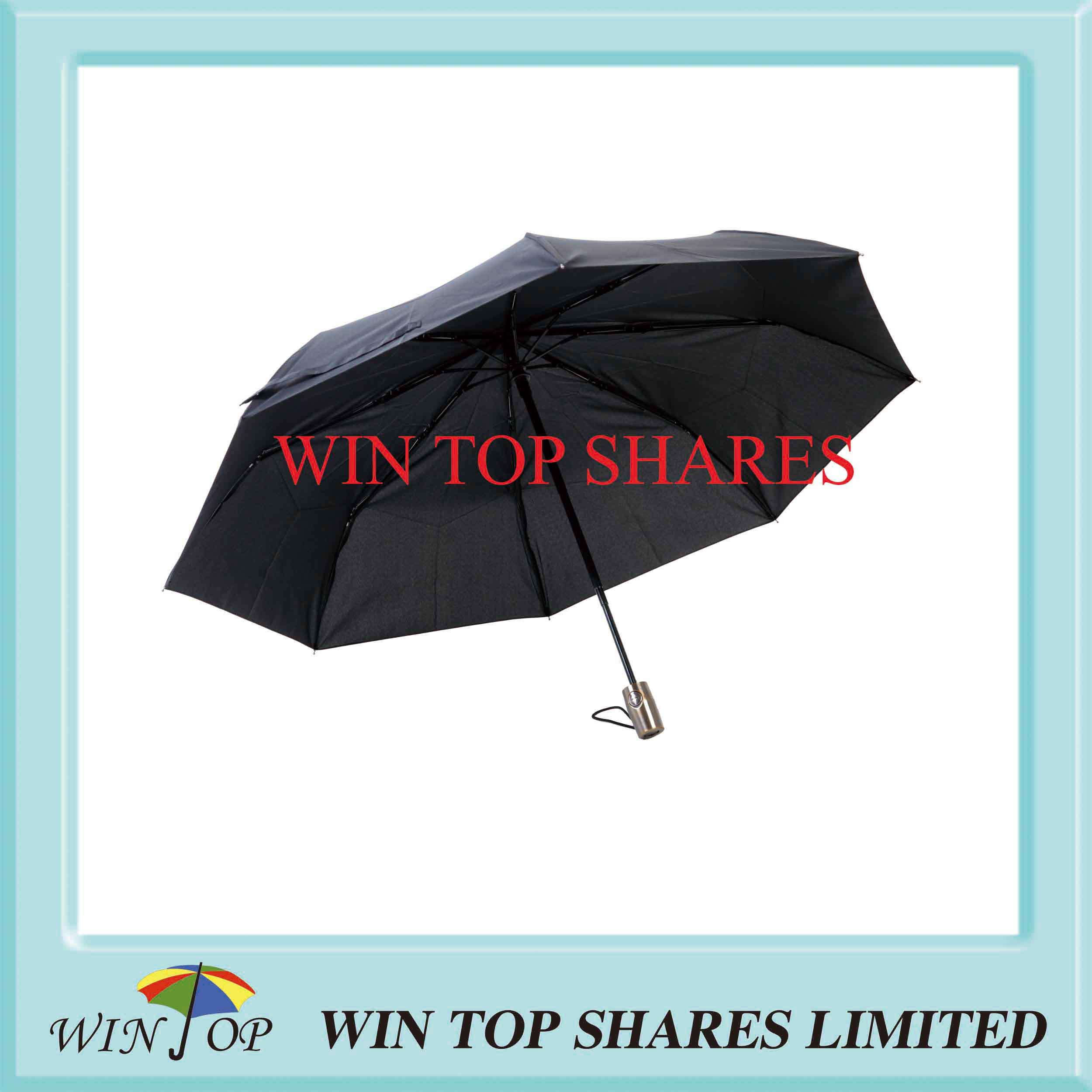 Vacuum Plating Handle Auto Open Close Umbrella