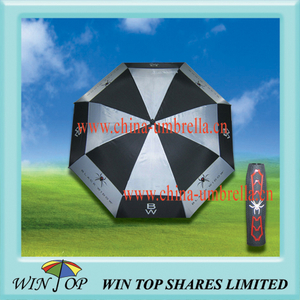 "Arc 68"", Radius 34"" Black Widow Auto Golf Umbrella"