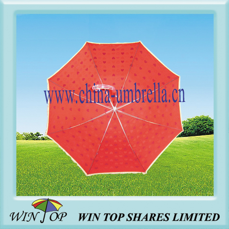 Hot Sale Auto Straight Printing Umbrella with Ruffle