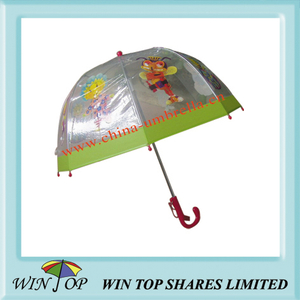 "15.5"" Children Translucent Cartoon Umbrella"