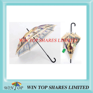 Digital Rotary Printing Steel Auto Straight Umbrella