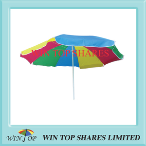 5.2FT 160cm 8 colors polyester rainbow beach Umbrella
