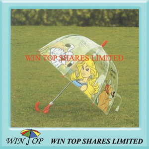"18"" PVC Apollo Umbrella with Cartoon Logo"