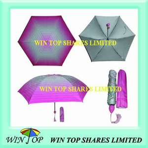 Super Mini 3 Folding Anti UV Pocket Sun Umbrella