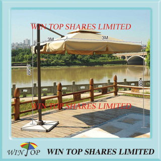 3.0 *3.0m Square Rome Umbrella for Patio and Garden