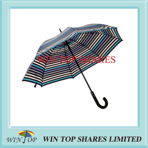 Elegant Stripe Style Auto Open Patent Umbrella