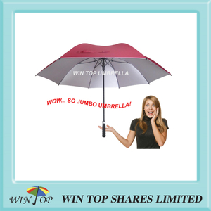 Anti UV 50+ girl red jumbo Golf sport Umbrella